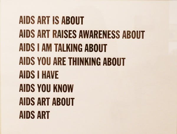 Vincent Chevalier, AIDS ART, 2013, laser print (photo by author)