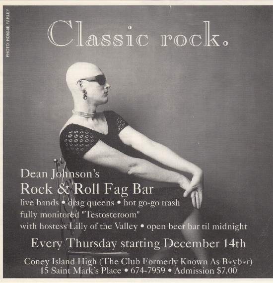 Dean Johnson's Rock n'Roll Fag Bar