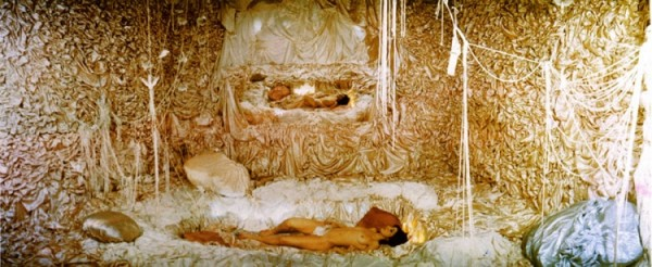 "Colette, Real Dream, Clocktower, Installation Performance NYC 1975-76, photo edition 30 x 72"" (Courtesy the artist, via collectcolette.com)"