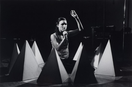 Jill Kroesen,The Original Lou and Walter Story, performance at The Kitchen, December 21—23, 1978. Courtesy the artist. Photograph by Robert Alexander