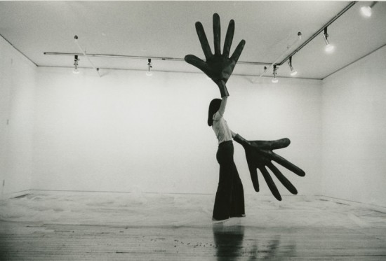 Sylvia Palacios Whitman (b. 1941),Passing Through, performance at Sonnabend Gallery, New York, May 20, 1977. Courtesy the artist. Photograph by Babette Mangolte; © 1977 All reproduction rights reserved