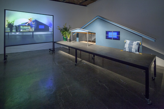 "Installation view of ""Day Is Done"" at MoMA PS1, 2013. Photo: Matthew Septimus."