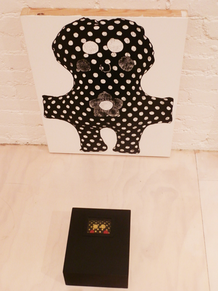 Mike Kelley,  Empathy Displacement…#7, 1990, acrylic on panel, found doll, painted wood box (photo by author)