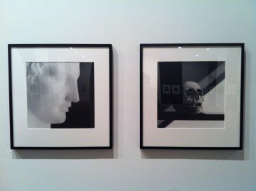 A pair of photographs from the exhibit