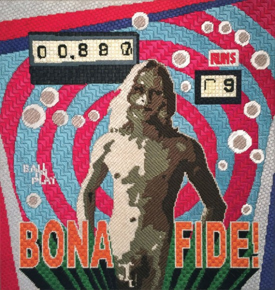 Maria E. Piñeres, Bona Fide! (In Good Faith!), 2013, Cotton floss on plastic mounted on wood panel, Courtesy of the artist and DCKT Contemporary, New York