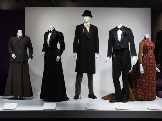 Installation view of A Queer History of Fashion
