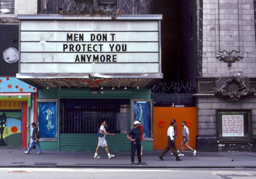 Jenny Holzer installation on The Liberty Theater