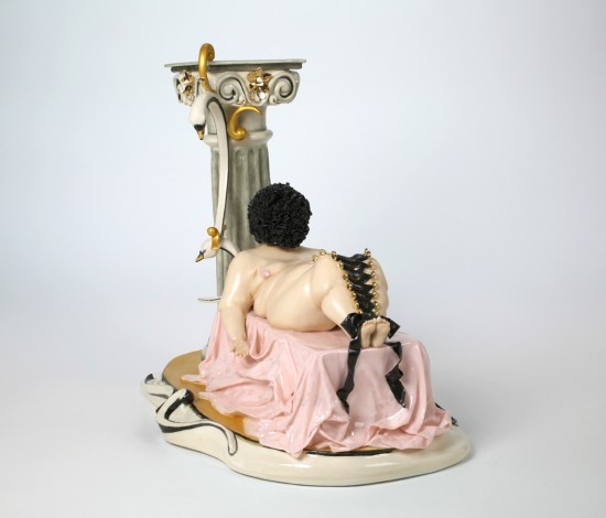 Jessica Stoller, Untitled (venus) 2013, porcelain, china paint, luster