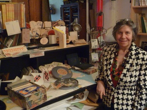 Esther Smith at Purgatory Pie Press' TriBeCa studio