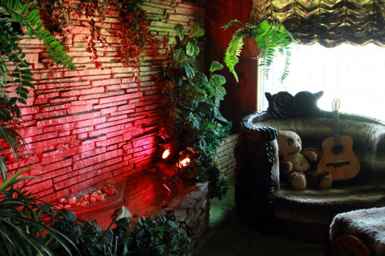 More of the jungle room's eye-searing kitsch