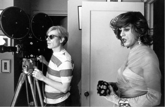 Warhol and Mario Montez film Hedy