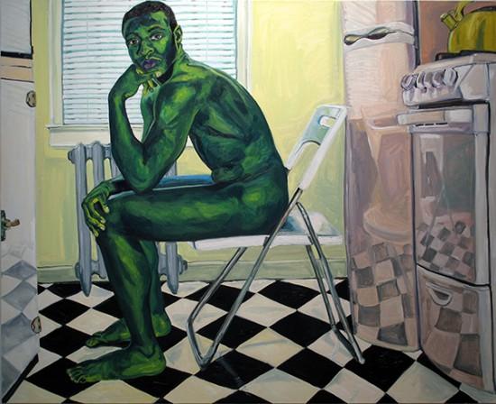 Jordan Casteel, Galen 2, 2014, oil on canvas, 72 x 84 inches