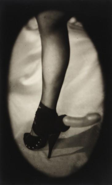 """Pierre Molinier Mon fétiche des jambes [""""My Fetish of Legs""""], 1966 Vintage gelatin silver print 6 7/8 x 4 1/4 inches (17.5 x 10.8 cm)  (Photo credit: Joelle Jensen)"""
