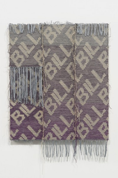 Josh Faught, Bill, 2014 Hand woven hemp, hand dyed in the range of colors from Elephant Grey to Bougainvillea, colors of the 2013-2014 fashion color forecast on linen