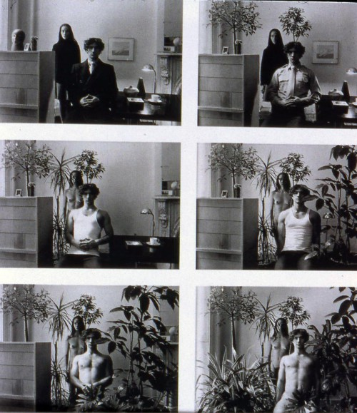 Duane Michals, Paradise Regained, 1968, gelatin silver print with hand applied text