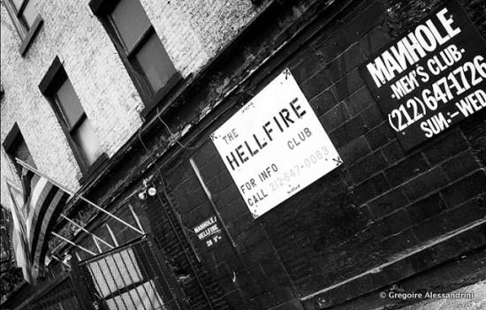 Hellfire Club (Photo © Gregoire Alessandrini; via his website, New York City 1990's)