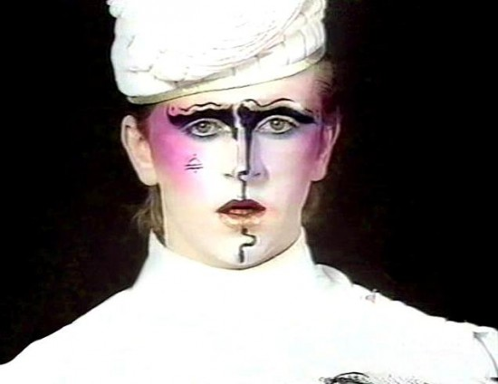 Steve Strange in Visage's 'Fade to Grey' video