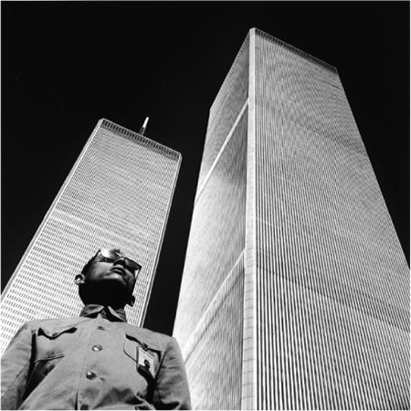 Tseng Kwong Chi, New York New York (World Trade Center), 1979, silver gelatin print