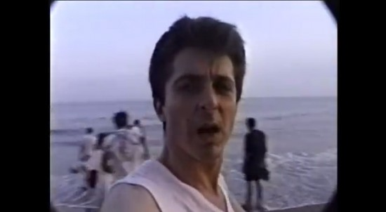 Nelson Sullivan on Coney Island (screenshot via video on 5 Ninth Avenue Project Youtube page)
