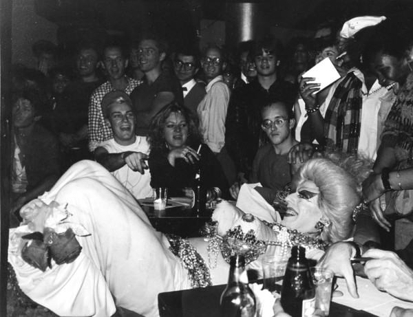 "Joseph Modica, ""A NIGHT AT DANCETERIA (Ethyl Eichelberger, Keith Haring, Cookie Mueller & John Sex), Danceteria, NYC 1984 """