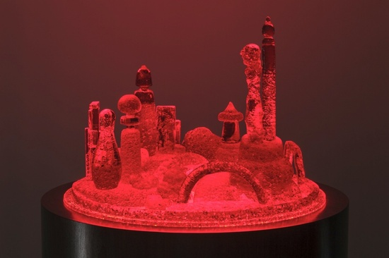 Mike Kelley, City 3, 2007—2011, Tinted urethane resin, acrylic on illuminated base, Photo: Fredrik Nilsen © Mike Kelley Foundation for the Arts / Licensed by VAGA New York (All photos via Hauser & Wirth, New York)