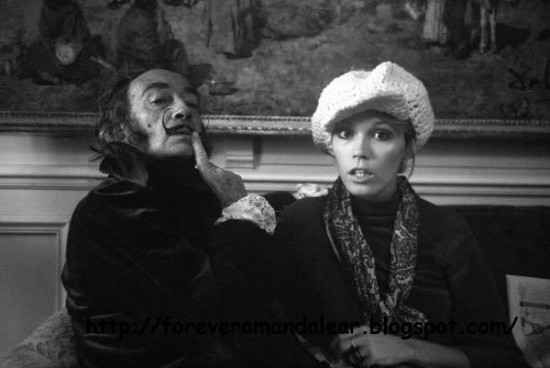 Amanda with Salvador Dali (via formidablemag.com)