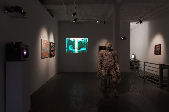 Installation view of Luther Price: The Dry Remains
