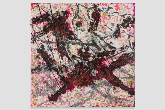 Mark Bradford, Killing the Goodbye, 2015 Mixed media on canvas