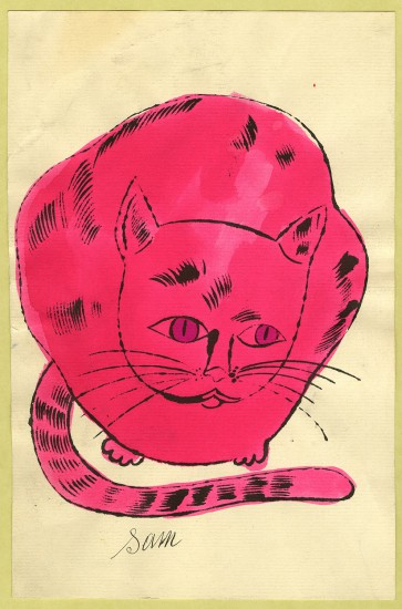 Andy Warhol, Illustration (from 25 Cats Name Sam and One Blue Pussy), ca. 1954, ©The Andy Warhol Foundation for the Visual Arts, Inc., courtesy of The Andy Warhol Museum, Pittsburgh