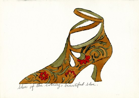 "Andy Warhol, ""Shoe of the Evening, Beautiful Shoe,"" ca. 1955, ©The Andy Warhol Foundation for the Visual Arts, Inc., courtesy of The Andy Warhol Museum, Pittsburgh"