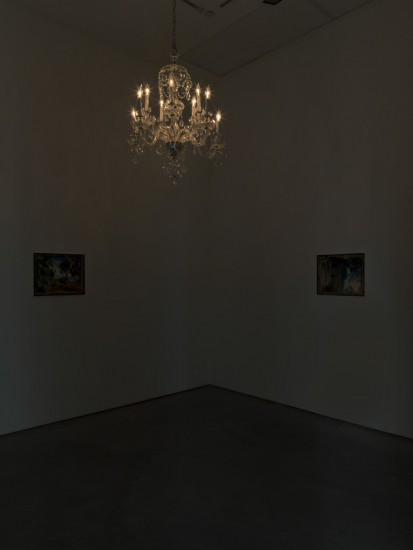 Installation view of Karen Kilimnik at 303 Gallery