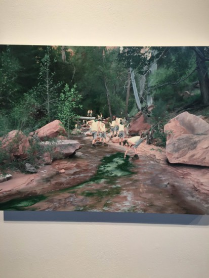 Cobi Moules, Untitled (Fallen Tree Near LaVerkin Creek II), 2012, oil on canvas