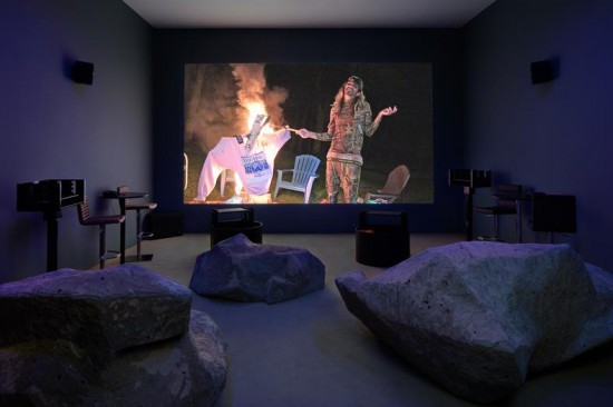 Installation view of Lizzie Fitch/Ryan Trecartin at Andrea Rosen Gallery (all images courtesy the artists and Andrea Rosen, New York)