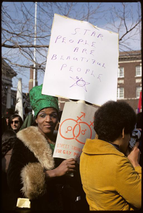 Diana Davies (b.1938), Gay rights demonstration, Albany, New York, 1971/2013, Digital print, 14 x 11 in., Collection of Leslie-Lohman Museum, Gift of Alexis Heller, ©New York Public Library