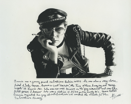 Amos Badertscher (b.1936) Bonnie Zuch, 1976 Silver gelatin print, 8 x 10 in. Collection of Leslie-Lohman Museum, Gift of the artist