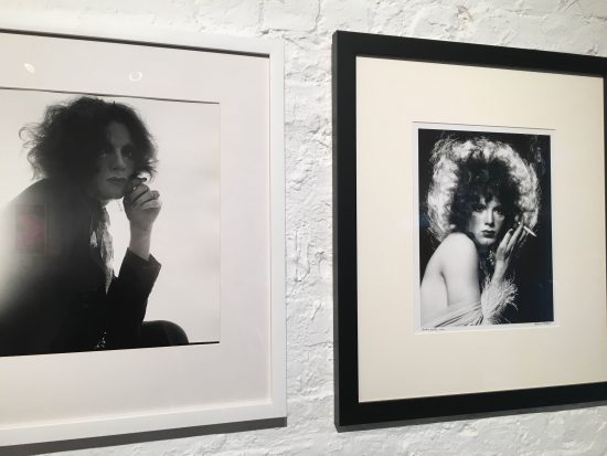 Peter Hujar, Jackie Curtis, 1970, vintage silver gelatin print, Courtesy of the Peter Hujar Estate and Pace MacGill and Jack Mitchell, Warhol Superstar Jackie Curtis, 1970, vintage silver gelatin print, Courtesy of the Jack Mitchell archive (photo by author)