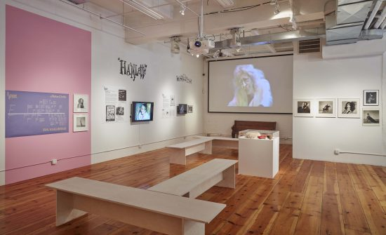 Installation view of When Jackie Met Ethyl at Howl! Happening (Photo by Jason Wyche; Courtesy Howl! Happening)