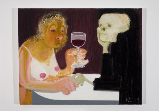 "Nicole Eisenman ""Death and the Maiden"", 2009 Oil on canvas 14.5"" H x 18"" W (36.83 cm H x 45.72 cm W) Courtesy of the artist and Susanne Vielmetter Los Angeles Projects Image"