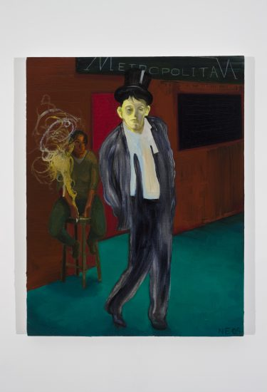 Nicole Eisenman, The Fag End II, 2009 Oil on canvas, 18 x 14 1/2 in (45.7 x 36.8 cm), Collection Martin and Rebecca Eisenberg
