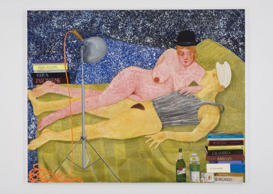 Nicole Eisenman, Night Studio, 2009 Oil on canvas 65 x 82 in (165.1 x 208.3 cm) Collection Joshua Gessel and Yoel Kremin, Marina-Herzliya