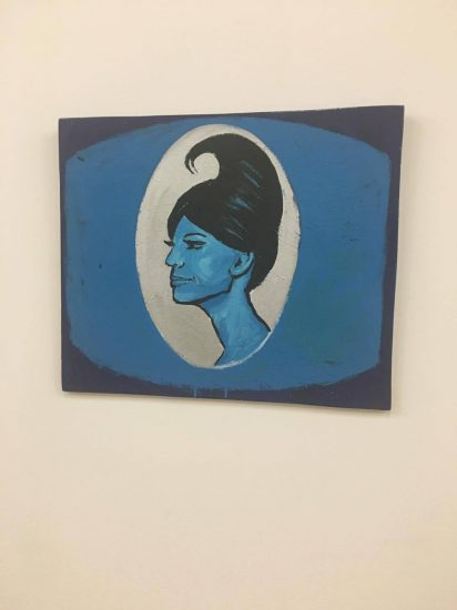 "Tom Rubnitz, Blue ""Lady,"" 1985, enamel on board"