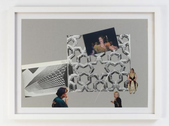 Kader Attia, Modern Architecture Genealogy #2, 2014, collage on cardboard