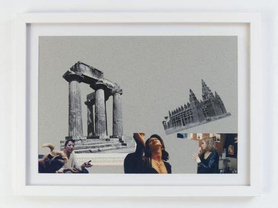 Kader Attia, Modern Architecture Genealogy #3, 2014, collage on cardboard