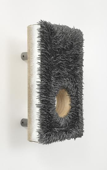 Donald Moffett, Lot 121415 (graphite), 2015, Oil on linen, wood panel support with steel tubing