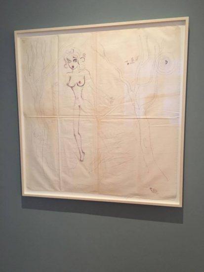 Ellen Cantor, title unknown [Snow White], c. 1996, pencil on canvas