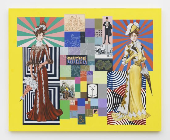 McDermott & McGough, The timbre of their voices... and their feminesque mannerism: Elsie, Daisy, Queen Mary, Salome, Cinderella, Violet, Blossom, Edna May, and Big Tess, 1984 / 2016, Oil on linen