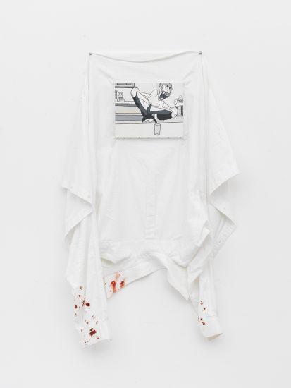 McDermott & McGough, Velvet Rage, 1984 / 2016, Oil on cotton shirt