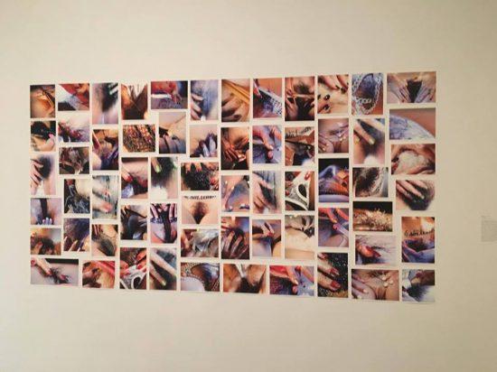 Marilyn Minter, Plush, 2014/2016, inkjet prints (photo by author)