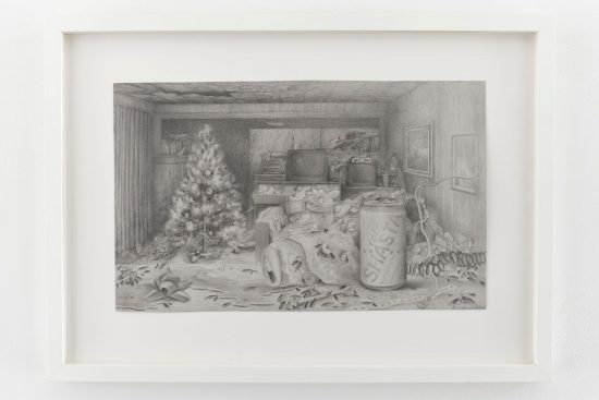 Brandi Twilley Shasta, 2014 Graphite on gray paper 10 1/2 x 17 1/4 inches Image courtesy of the artist and Kate Werble Gallery, New York Image credit: Elisabeth Bernstein Photography