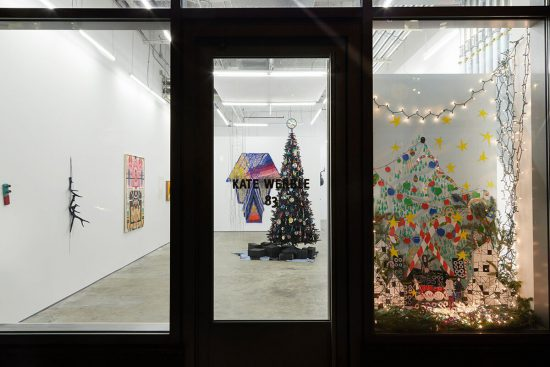 Exhibition view of XXXmASS, 2016 – 2017 Kate Werble Gallery, New York (Image courtesy of Kate Werble Gallery, New York; Image credit: Elisabeth Bernstein Photography)